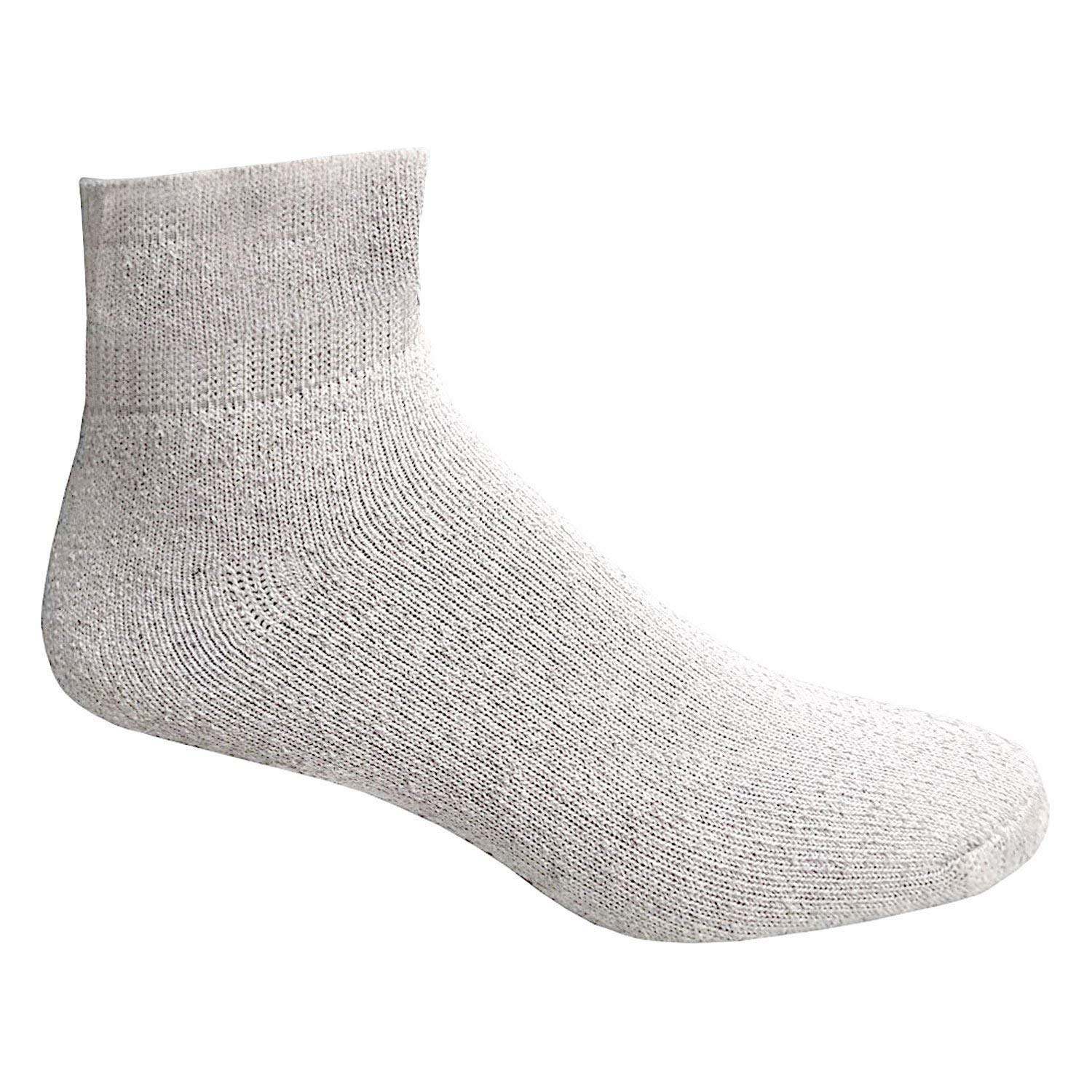 Mens King Size Cotton Quarter Ankle Socks Plus Size White Ankle Sock 13-16 60 pc