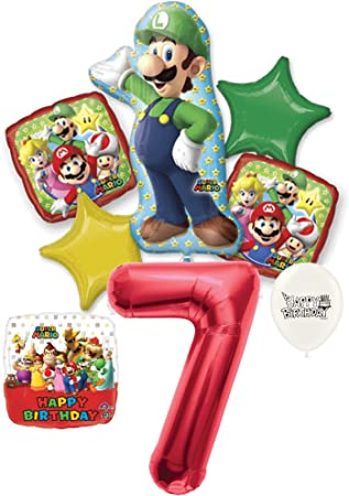Amazon.com: Luigi Mario Brothers decoraciones de fiesta de ...