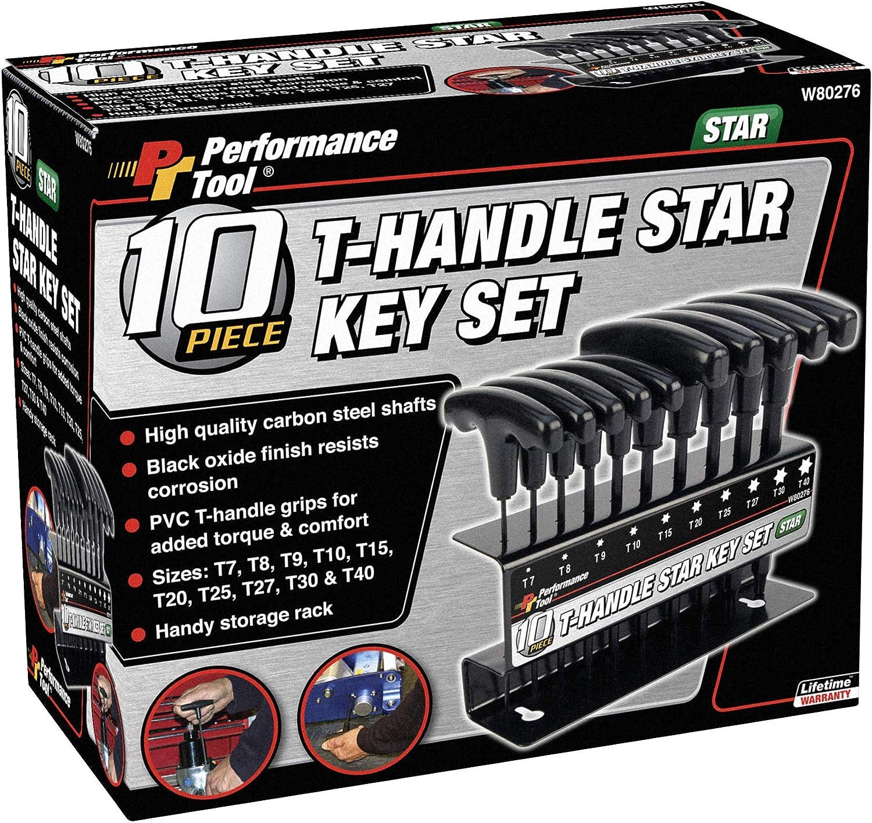 Sizes : T10 T25 T20 6pc T-Handle Star Key Set T15 T30 /& T40
