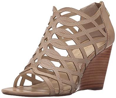 ADRIENNE VITTADINI Footwear Women's Arndre Wedge Sandal, Soft Wheat, ...