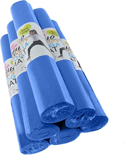 Hello Fit – Kid s Short Yoga Mats – Economical 6-Pack – Nontoxic – Non-Slip – Moisture Resistant