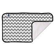 Planet Wise DesignerPadGrayChevron Designer Waterproof Diaper Pad, Gray Chevron