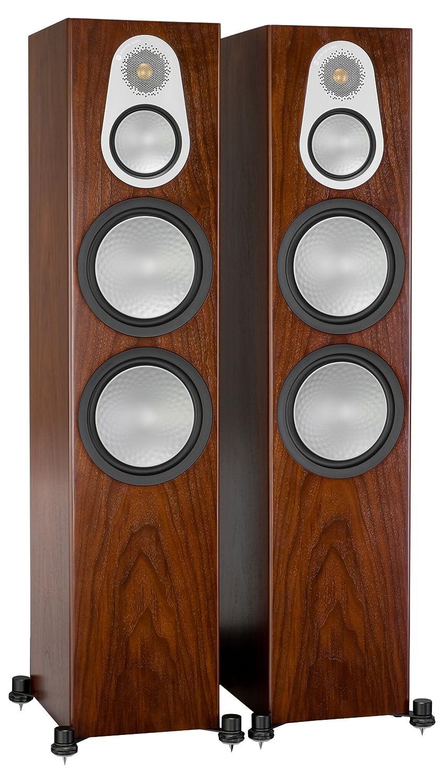 Monitor Audio Silver 500 Floorstanding Speaker Walnut Pair