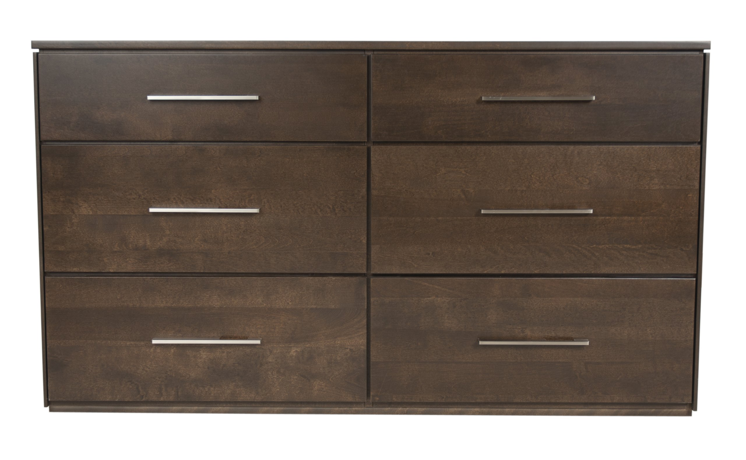 Offspring York 6 Drawer Double Dresser, Cocoa