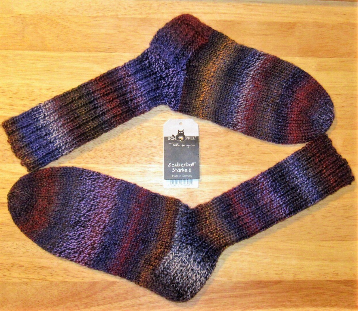 Tricoté à la main/auto-tricoté/chaussettes / chaussettes en laine/Schoppel - Route 66 / Gr. 36/37/38/39/40/41/42/43/44 / Femme/Homme / Chaussettes d'hiver/Chaussettes chaudes/Chaussettes / Bas.