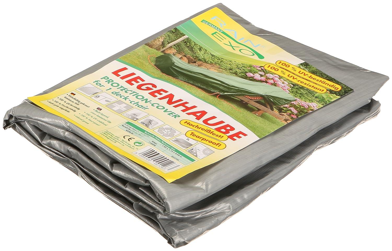 Rainexo telo protettivo antistrappo altamente resistente per lettino pieghevole, 1,85 x 1,15 x 0,68 m, argento/grigio Rain Exo RX90-RL SG