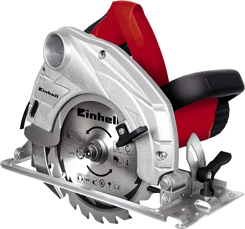 Einhell TH-CS 1200/1 - Sierra circular, 5000 rpm, diámetro de 160 mm, 1230 W, 230 V, color negro y rojo