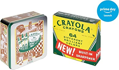 Crayola 60th Anniversary 64 Count Crayon Set with Collectible Tin, Amazon Exclusive