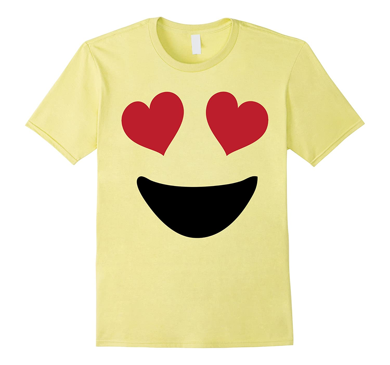 Emoji T Shirt Halloween Costume Heart Eyes and A Big Smile-T-Shirt