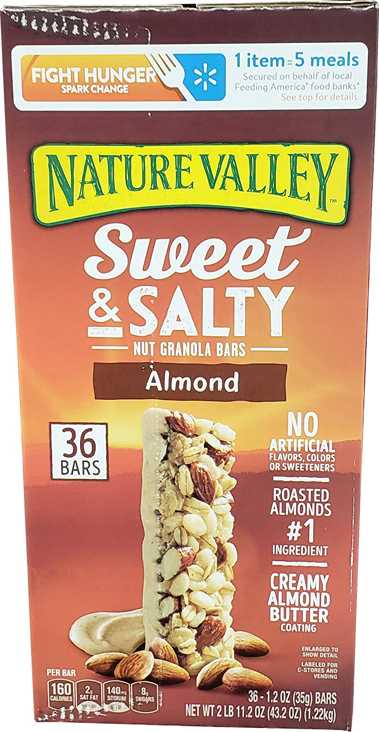 Nature Valley Nature Valley Sweet & Salty Almond Bars 36 x 1.2 Oz Net Wt 43.2 Oz, 43.2 oz