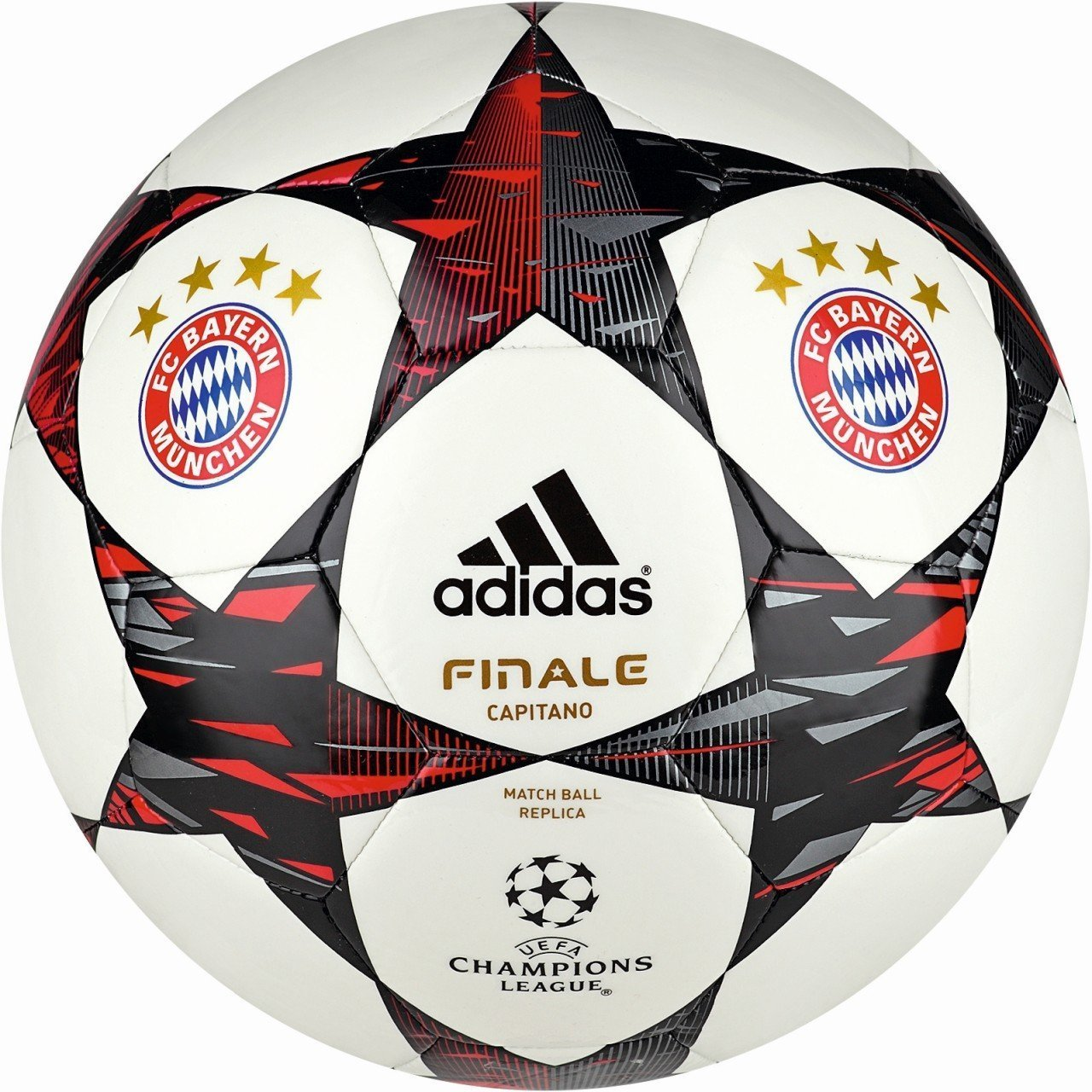 adidas Fútbol Finale 2014 FC Bayern Múnich Capitano, White/Poppy ...