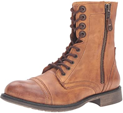 Steve Madden Men's Patronn Combat Boot, Tan, ...