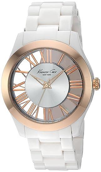 Kenneth Cole IKC4860 - Reloj para mujer con correa de policarbonato, color marrón/gris