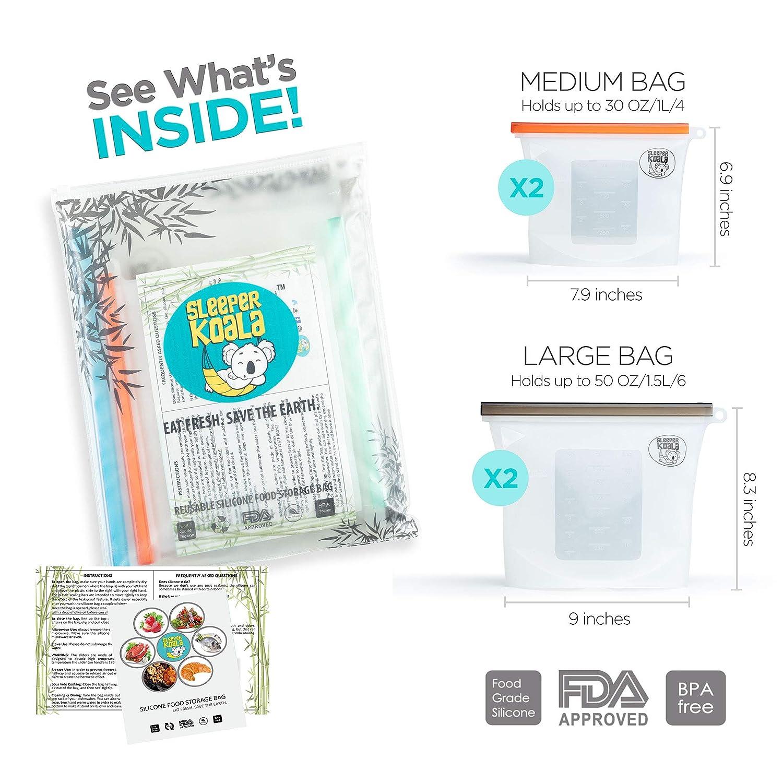 Bolsa de silicona reutilizable para alimentos, sándwich ...