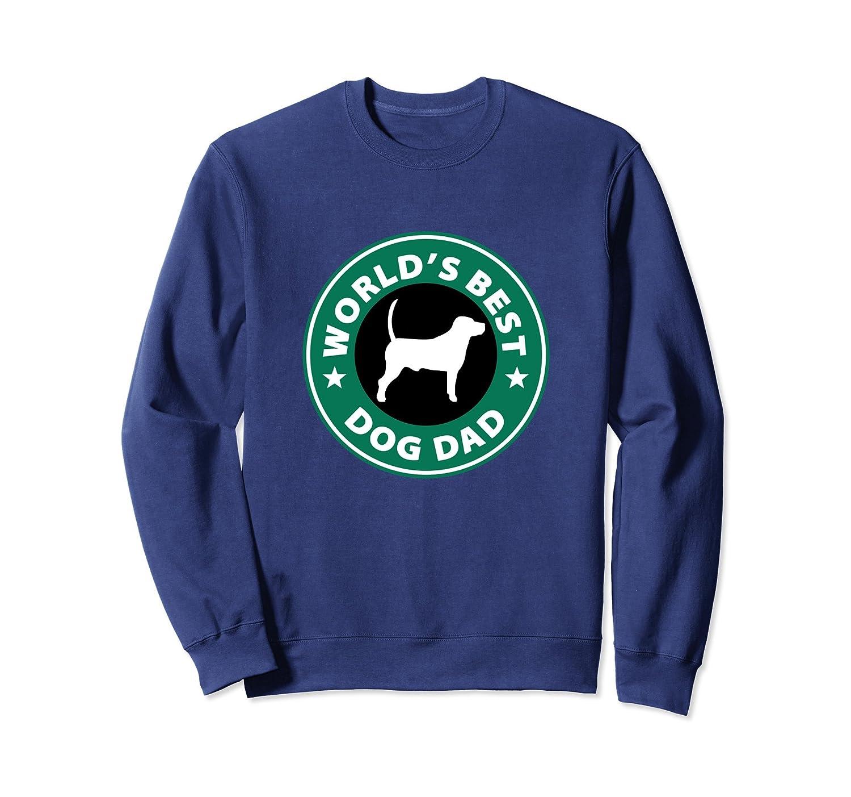 World's Best Dog Dad Cute Pet Love Parody Logo Sweatshirt-TH