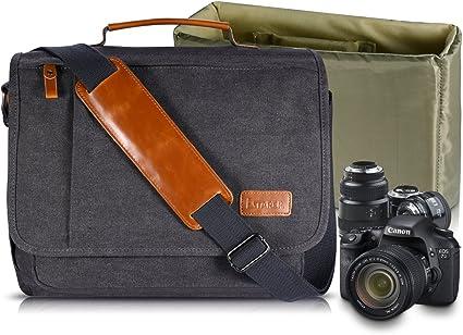 Estarer Bolsa de Lona Bandolera SLR/cámara réflex Digital para ...