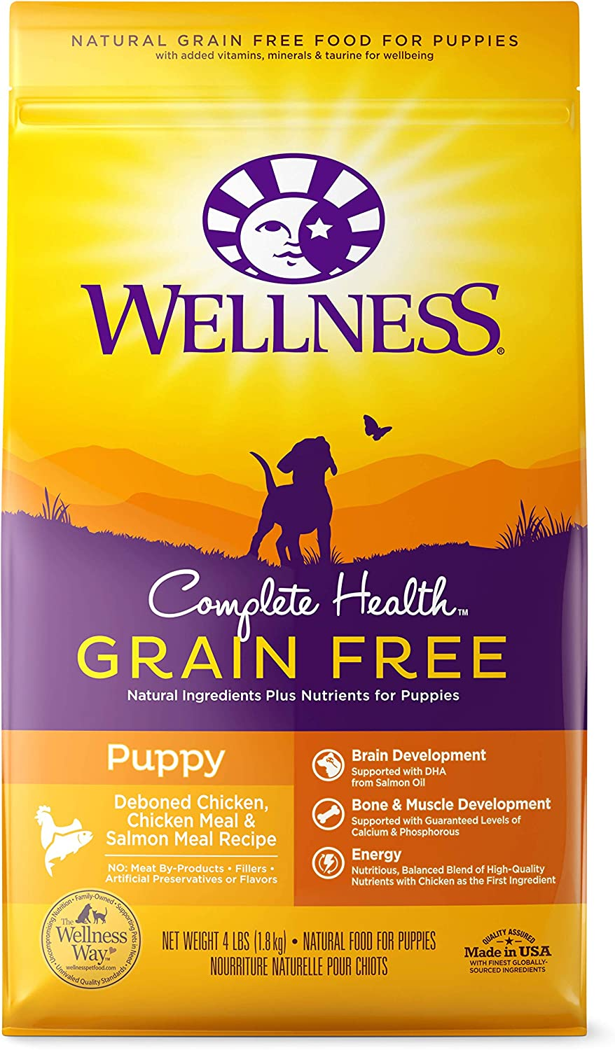 Wellness Complete Health Grain Free Chicken & Salmon Dry Puppy Food