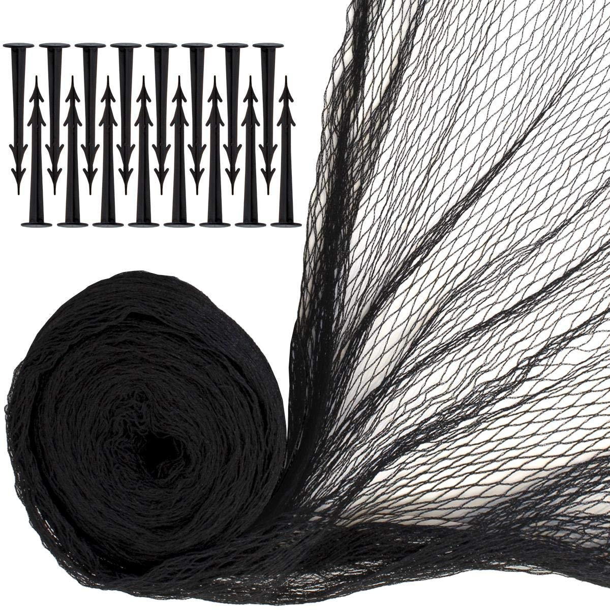 iGadgitz Home U7087 Fish Pond Netting with Securing Pegs - Black - 13ft x 39.4ft(426ft²) 16 pegs by iGadgitz Home