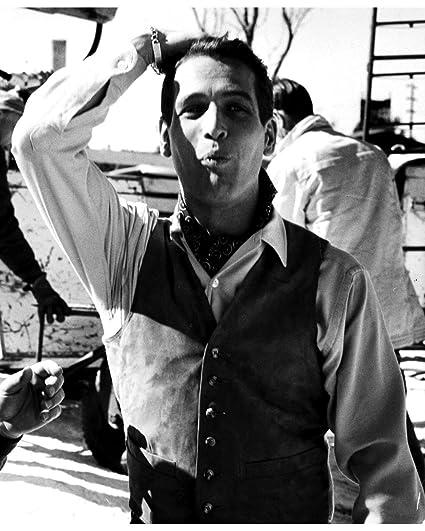 26e91686 Amazon.com: Globe Photos ArtPrints Paul Newman On A Film Set - 8
