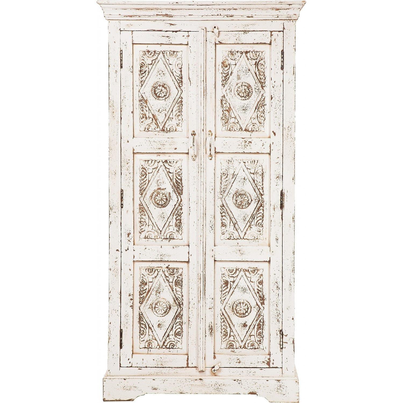 Kare design taberna-Schrank mit 2 Türen, Weiß