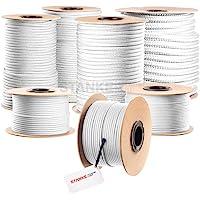Seilwerk STANKE gevochten touw van polypropyleen WIT zeilen touw, koord - 2mm, 1m