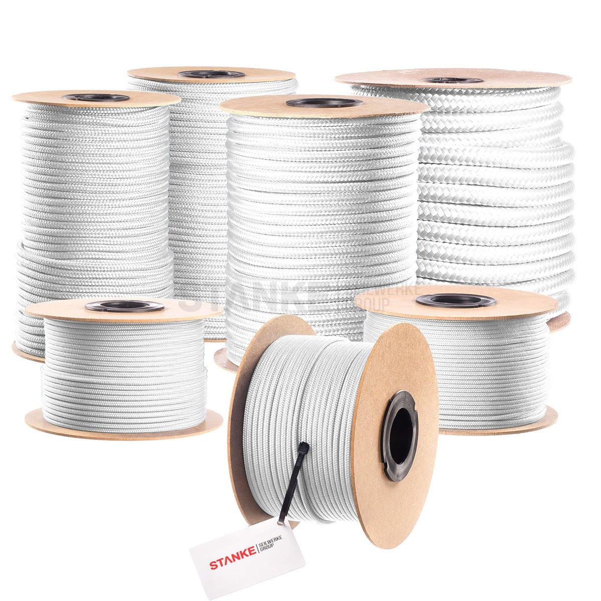 Seilwerk STANKE 50 m 4 mm corda in polipropilene corda intrecciata pp corda bianca corda da ormeggio corda intrecciata corda da ritorto