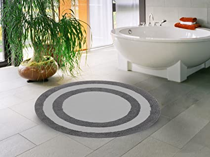 Amazon Com Saffron Fabs Bath Rug 100 Soft Cotton 36 Inch Round