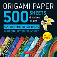 "Origami Paper 500 Sheets Nature Photo Patterns 6"" (15 CM): Tuttle Origami Paper: High-Quality Double-Sided Origami Sheets Printed with 12 Different Designs (Instructions for 6 Projects Included)"