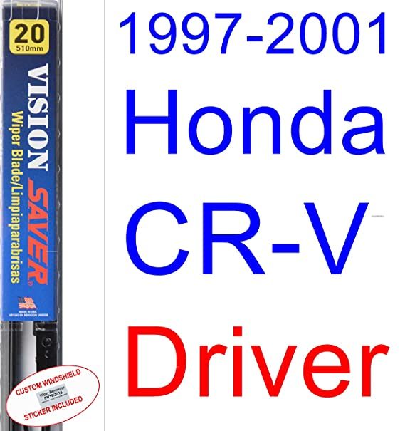Amazon.com: 1997-2001 Honda CR-V Wiper Blade (Rear) (Saver Automotive Products-Vision Saver) (1998,1999,2000): Automotive