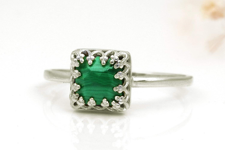 Malachite Ring Malachite Stone Ring Gemstone Ring Malachite Jewelry Bohemian Ring, Sterling Silver Ring Malachite Stone