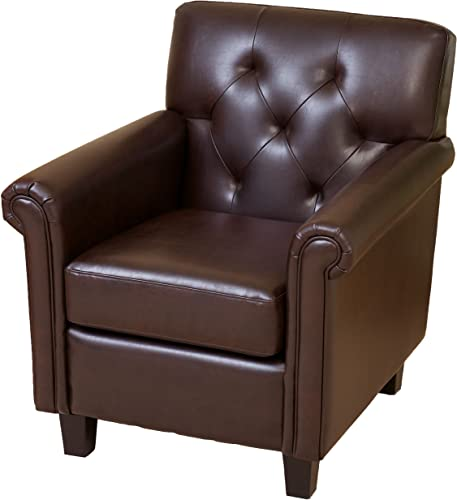 Christopher Knight Home Veronica Tufted Leather Club Chair