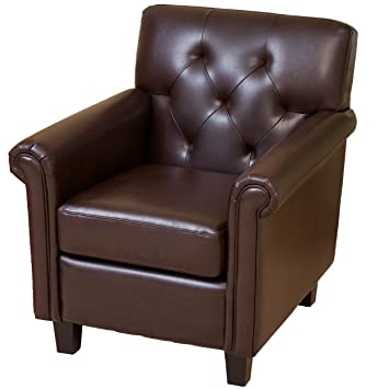 Amazon.com: Mejor Venta Valencia Tufted Club silla de piel ...