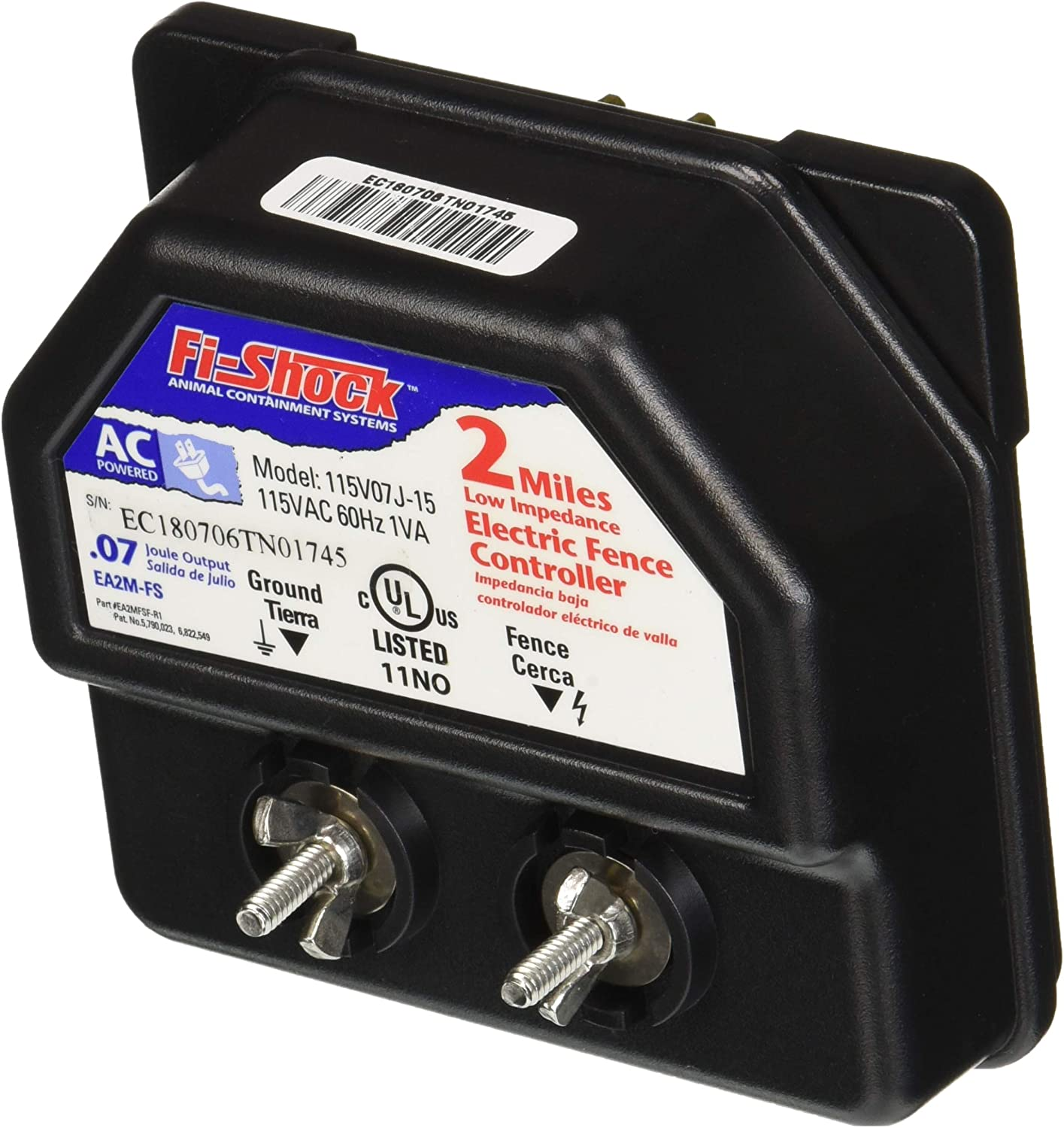 Fi-Shock EA2M-FS 2-Mile Low Impedance Electric Fence Energizer