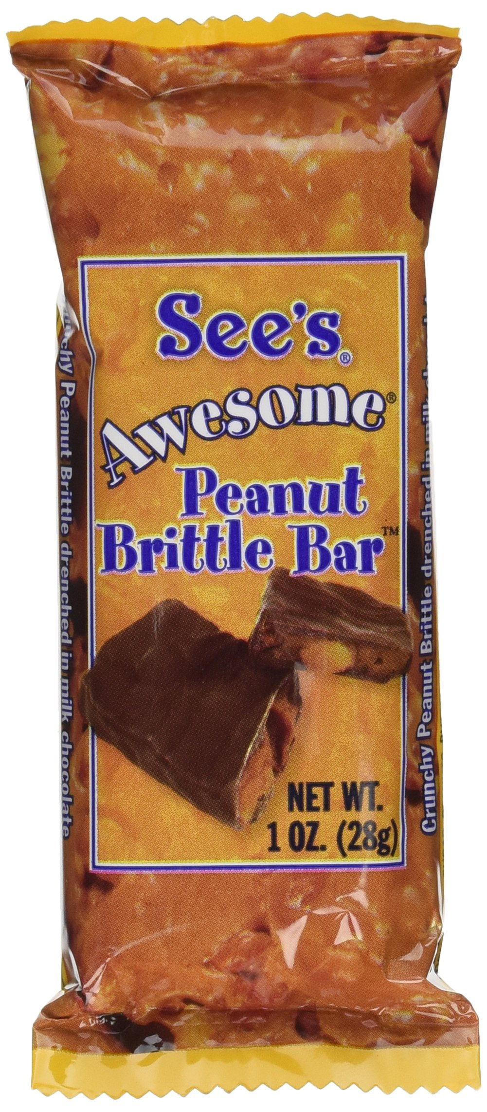 See's Candies 8 oz. Awesome Peanut Brittle Bar by See's Candies