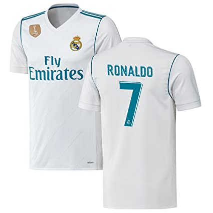 Shamyaan Sportswear Cristiano Ronaldo Jersey - Real Madrid #7 Home Jersey  Kit For Adults -