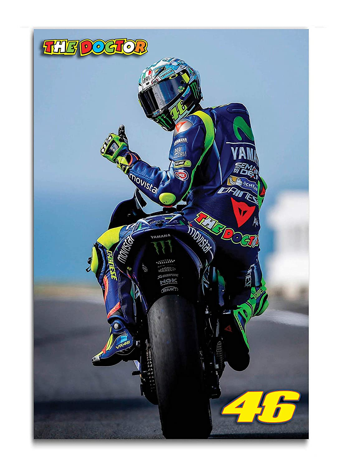 Tamatina Moto Gp Posters Super Bike Posters Valentino Rossi Cafe Posters Hostel Posters Bar Posters Grand Prix Large 3ft X 2ft 92 Cms X 61 Cms P96 Amazon In Home Kitchen