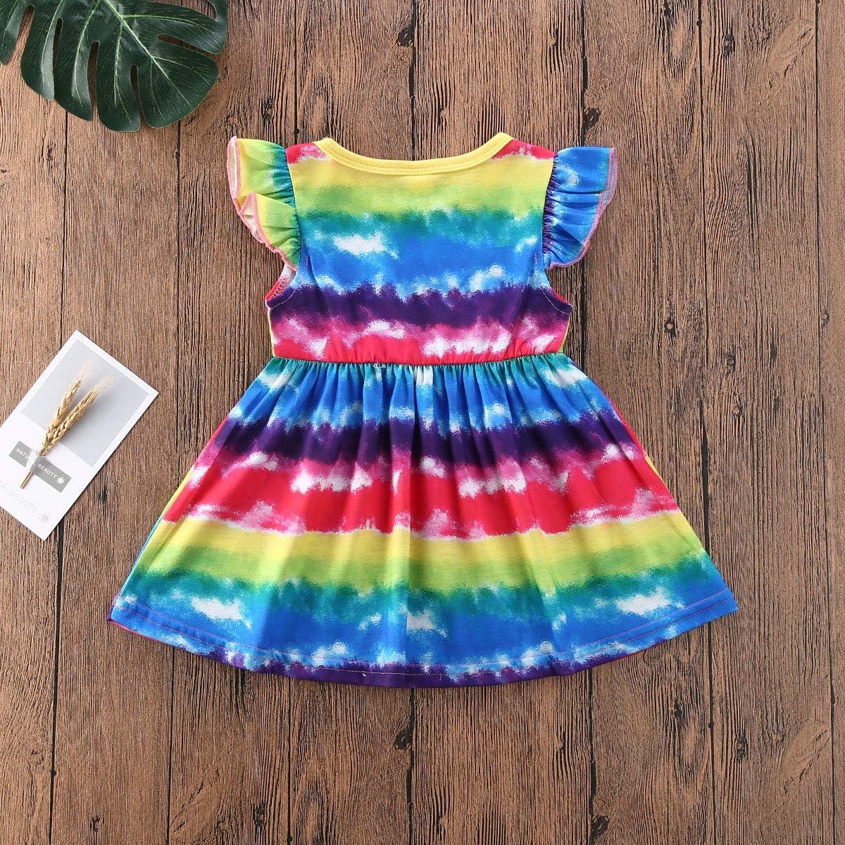 Rainbow TIE DYE Dress Rainbow PinWheel Tye Dye Baby Girl/'s Ruffle Dress Infant sizes 3 6 12 18 24 months Grateful Dead Love