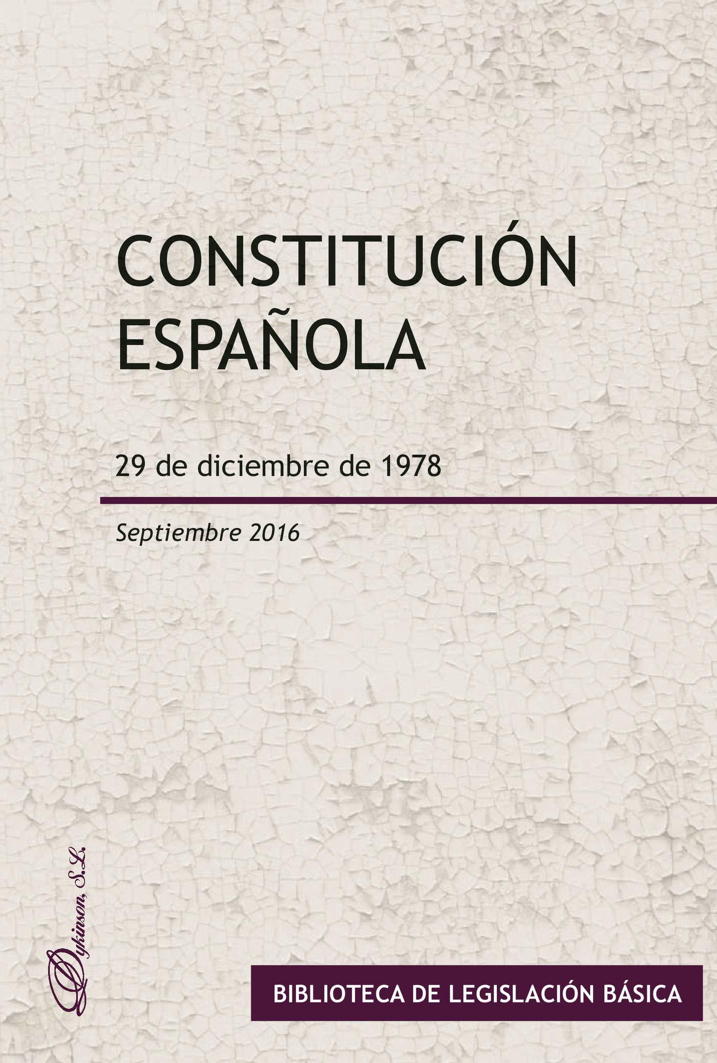 Constitución Española. 29 de Diciembre de 1978: Amazon.es: Dykinson, .: Libros