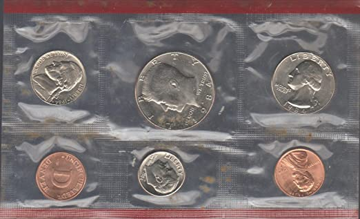 1984 P+D U.S Mint Set of 10 total US Coins Uncirculated in Original Mint Pack