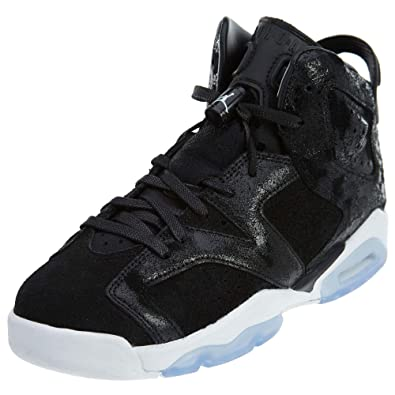a5a2f8bc726a Amazon.com  Jordan Big Kids Girls  Air Jordan 6 Retro Premium Heiress  Collection GS black black-white-gym red Size 9.0 US  Jordan  Shoes