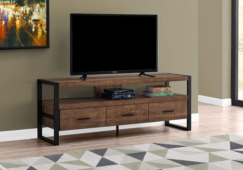 Monarch Specialties I I 2820 STAND-60 L - Mueble para televisor (Madera reciclada, 3 cajones): Amazon.es: Juguetes y juegos