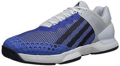 free shipping 0b143 a7cbc adidas Performance Mens Adizero Ubersonic Tennis Shoe, WhiteCollegiate  NavyBlue, 7