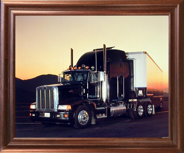 16x20 Peterbilt Semi with Trailer Big Rig Truck Wall Decor Art Print Poster