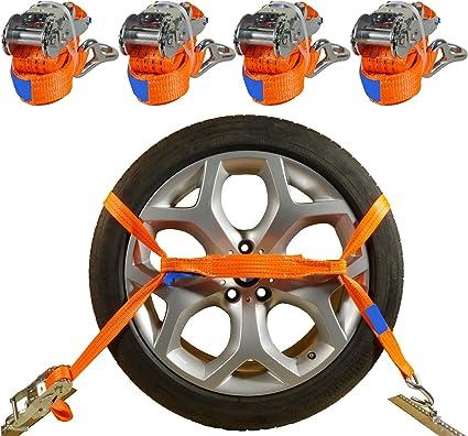 Industrie Planet 4 X Spanngurte Autotransport 2000 Dan 2 9m 35 Mm Orange Radsicherung Reifengurt Zurrgurte Auto Transport Pkw Radsicherungsgurt Din En 12195 2 Auto