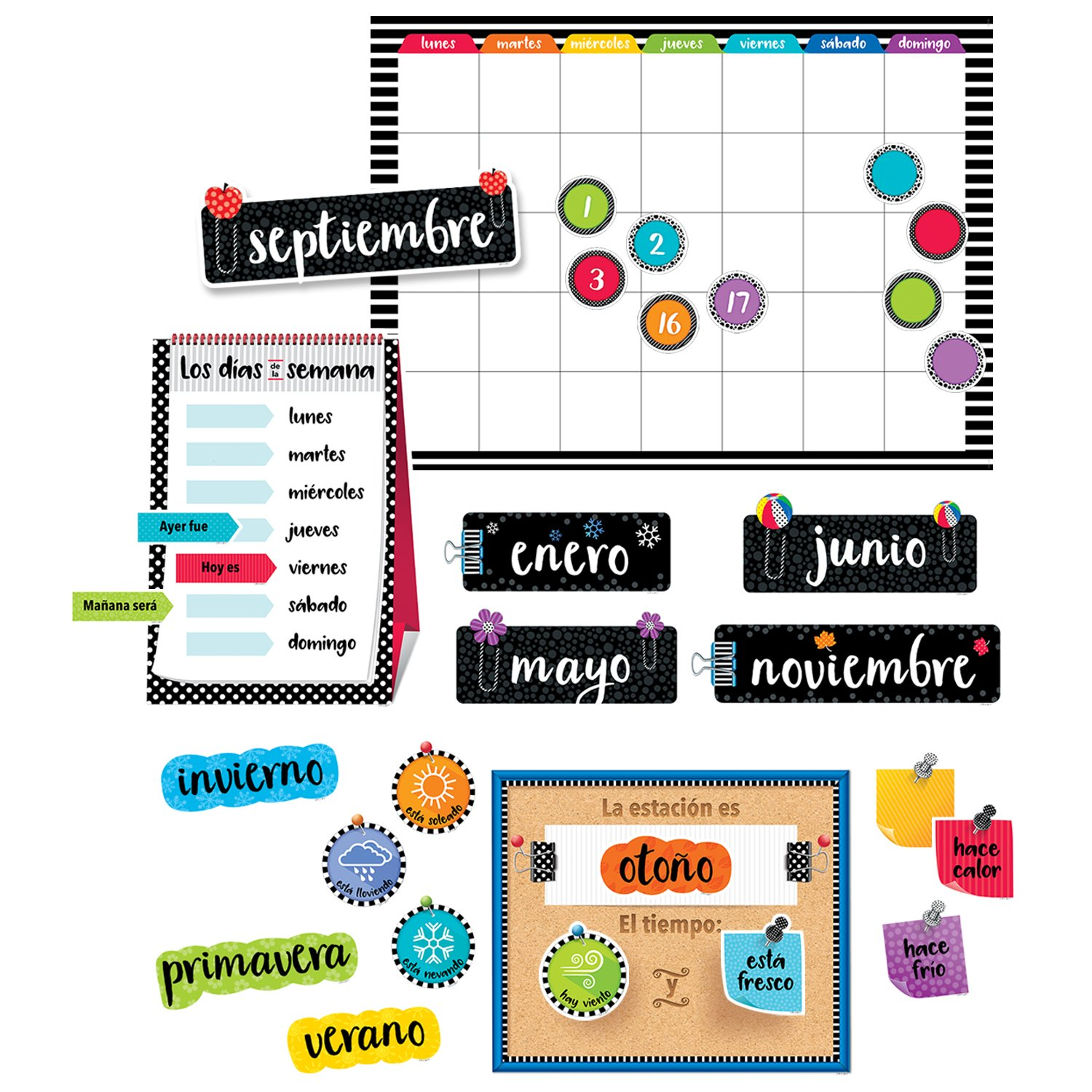 Creative Teaching Press Spanish Calendar Bulletin Board Set (8474)