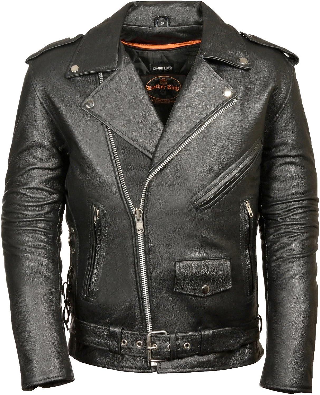 SKINOUTFIT Mens Leather Jacket Motorcycle Bomber Biker Genuine Lambskin 15