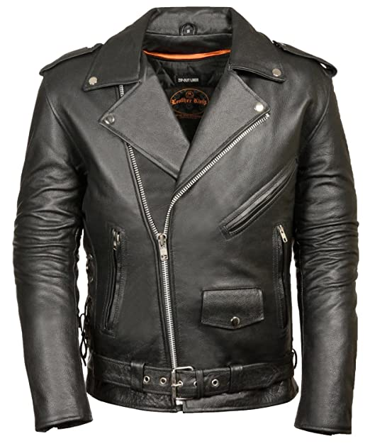 Classic Biker Jacket Half Belt & Side Laces