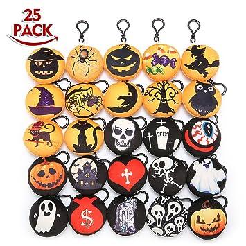 King Do Way - Juego de 25 laveros con diseño de Halloween o Navidad para decorar bolsos, mochilas, etc.: Amazon.es: Hogar