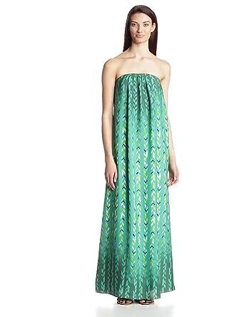 Lovers+Friends Women's Palms Spring Strapless Printed Maxi Dress, Chevron, X-Small