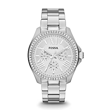Fossil Womens AM4481 Cecile Multifunction Stainless Steel Watch - Silver-Tone